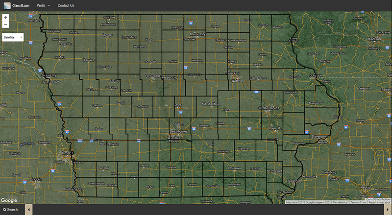IIHR-Iowa Geological Survey GeoSam web site image