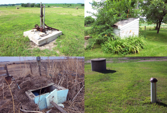 Examples of wells that need to be properly plugged.