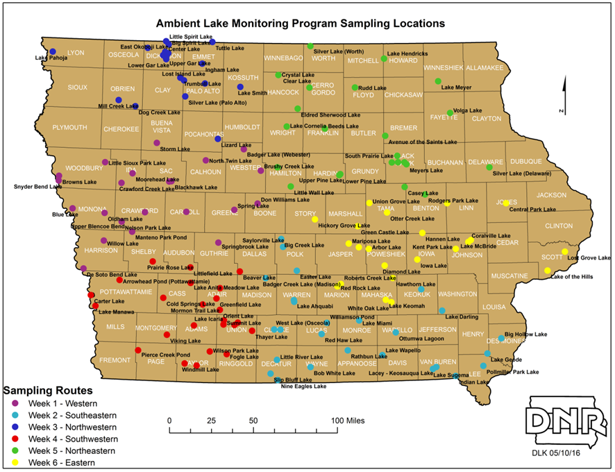 Ambient Lake Monitoring | Iowa DNR on